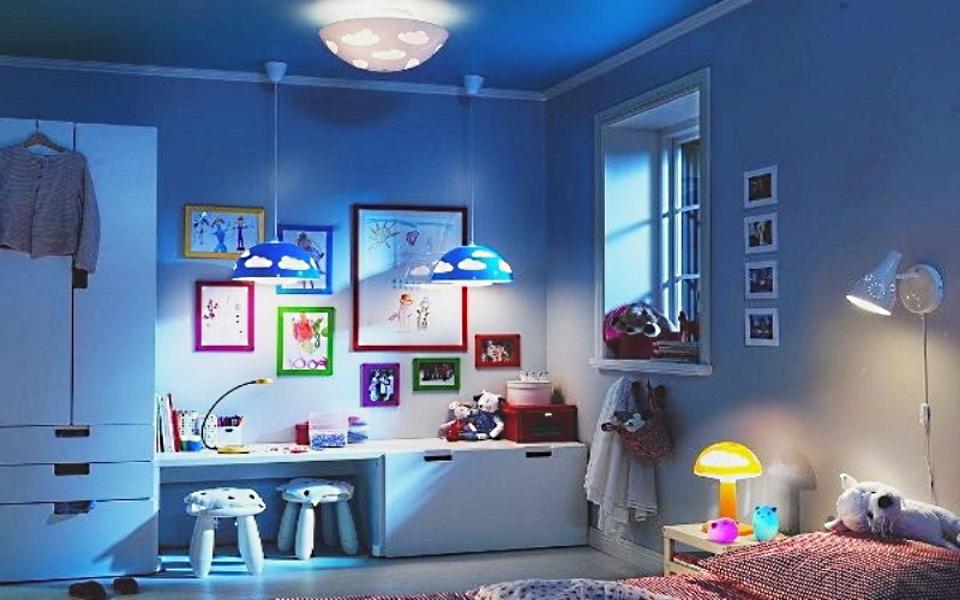 Материалы, освещение и цвет в интерьере детской комнаты - GreenhouseBay.ru